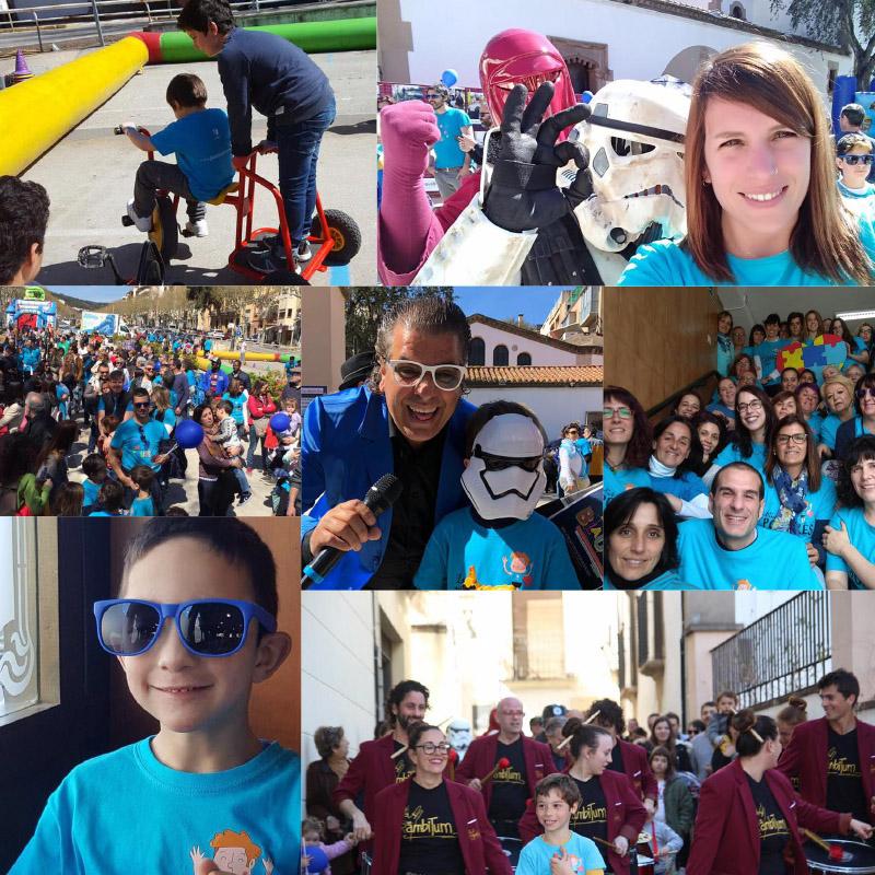 Imágenes de la celebración del Dia del Autismo